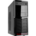 Accord A-30B black red w/o PSU ATX 2*USB Audio